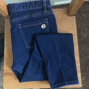 Michael Kors dark blue wash skinny jeans sz 8